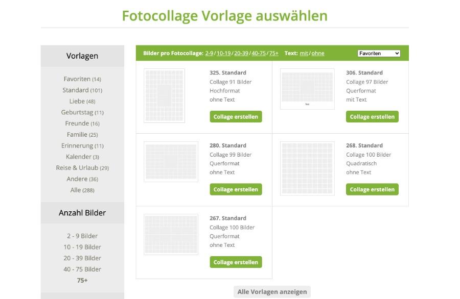 Vorlage für deine Fotocollage bei fotocollage-erstellen.net