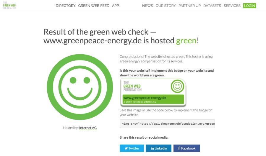 Green Web Foundation: Check nachhaltige Website