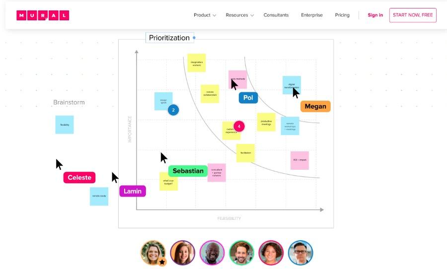 MURAL: Whiteboard für Online-Events