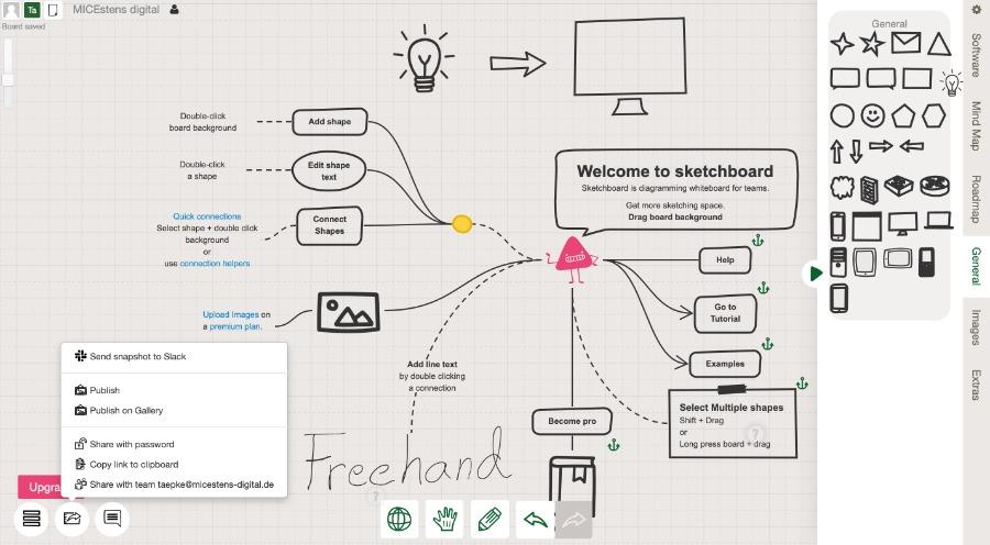 Sketchboard: für digitale Sketchnotes