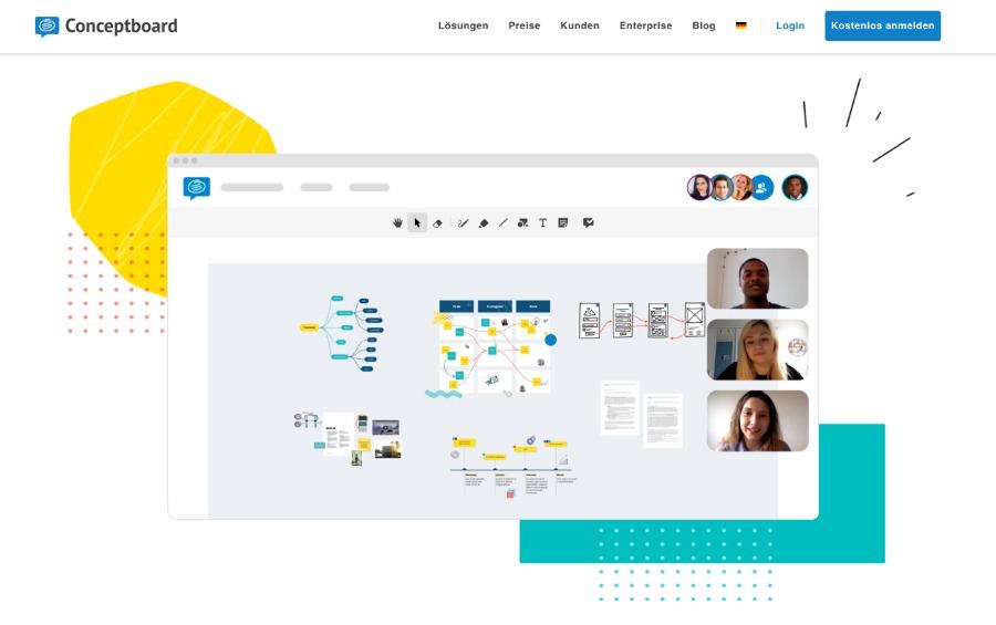 conceptboard: virtuelles Whiteboard