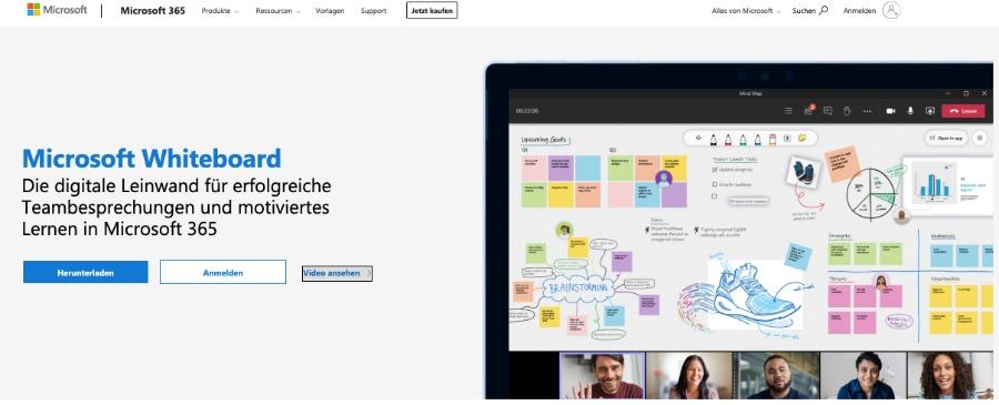 digitale Leinwand: Microsoft Whiteboard