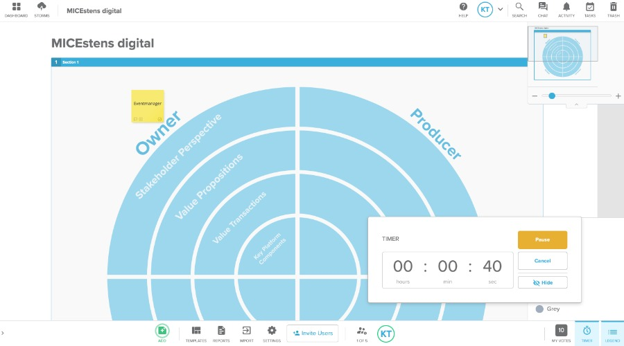 Stormboard: digitale Pinwand und Mindmap inkl. Timer