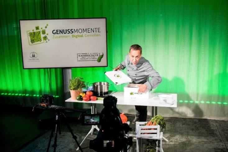 Genussmomente dank Kaiserschote: digitale Kochevents und hybrides Catering