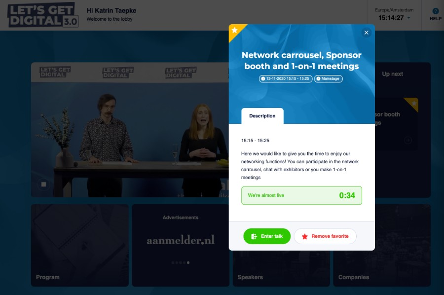 Networking-Karussell bei Let's get digital