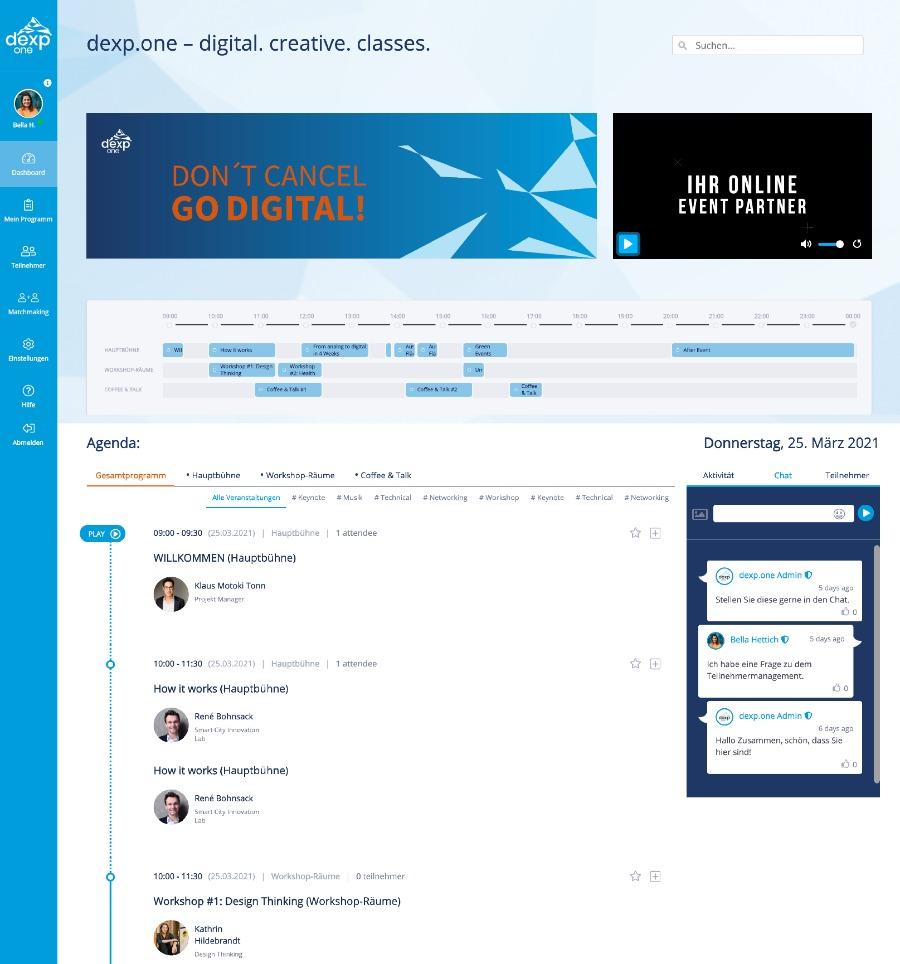 dexp.one: so könnte dein virtuelles Event aussehen