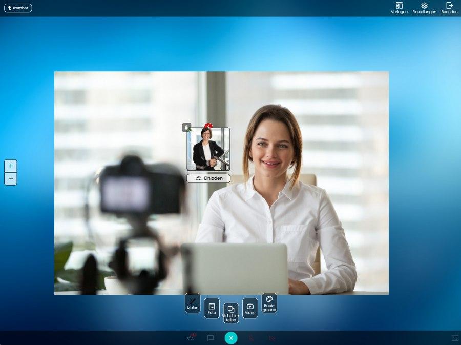 Fotos oder Videos einbinden und Bildschirm teilen