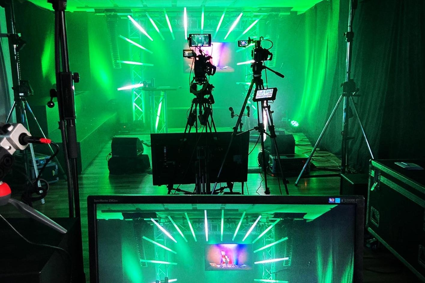Pop-Up-Studio für eine gelungene Eventdramaturgie bei Online-Events