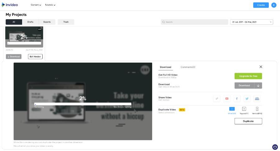 Video Trailer herunterladen oder direkt auf Social Media teilen