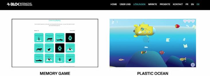 Edutainment Minispiele von A-Blok