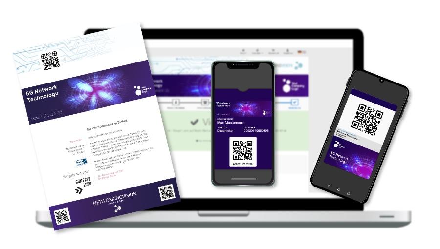 Einladungsmanagement: verschiedene Ticketmedien mit ADITUS