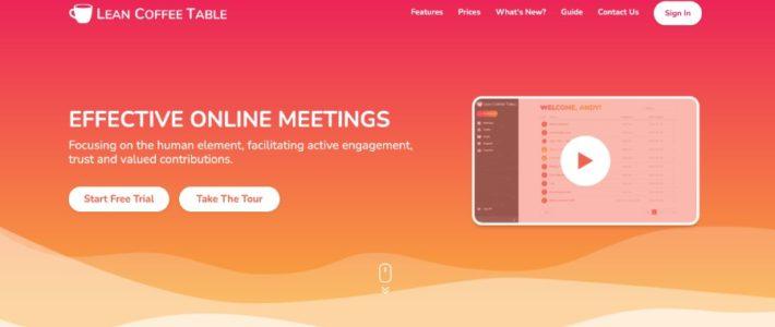 Lean Coffee Table – für online Meetings