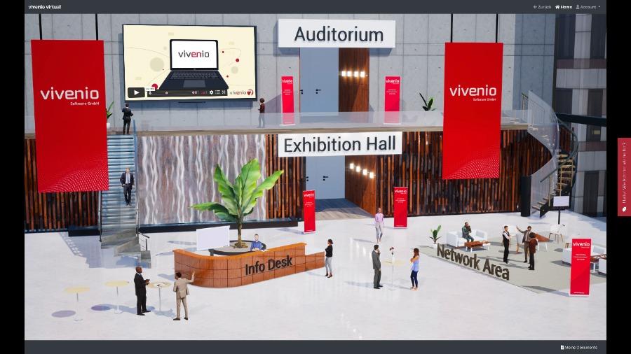 die virtuelle Lobby von vivenio
