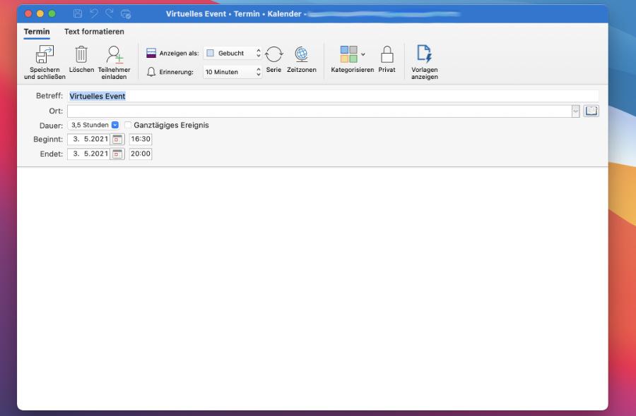 ics aus Outlook generieren