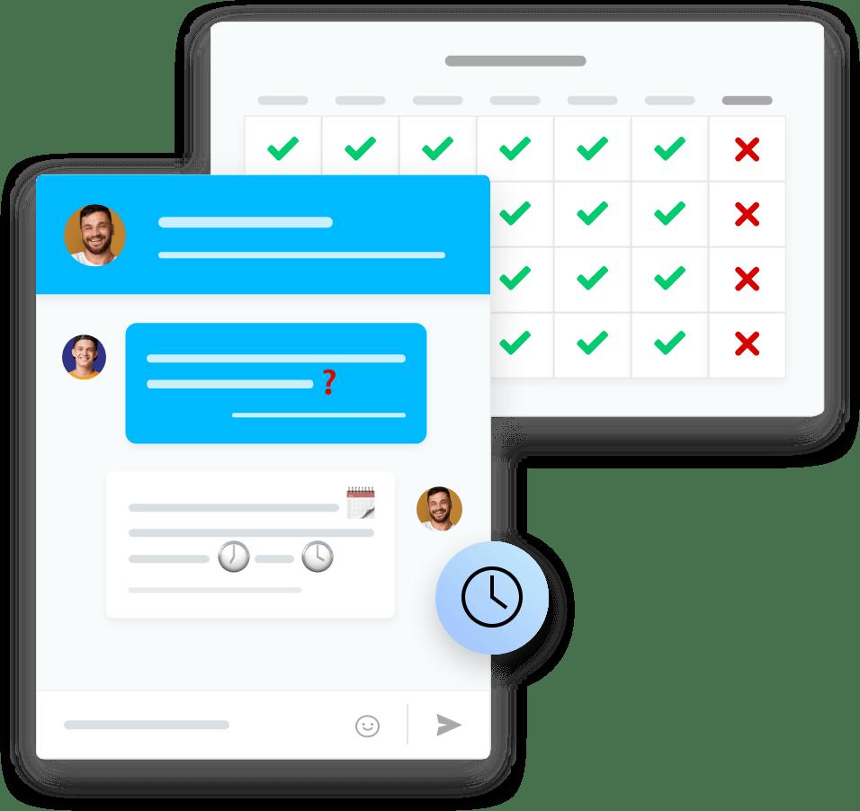 Live-Chats Status anzeigen