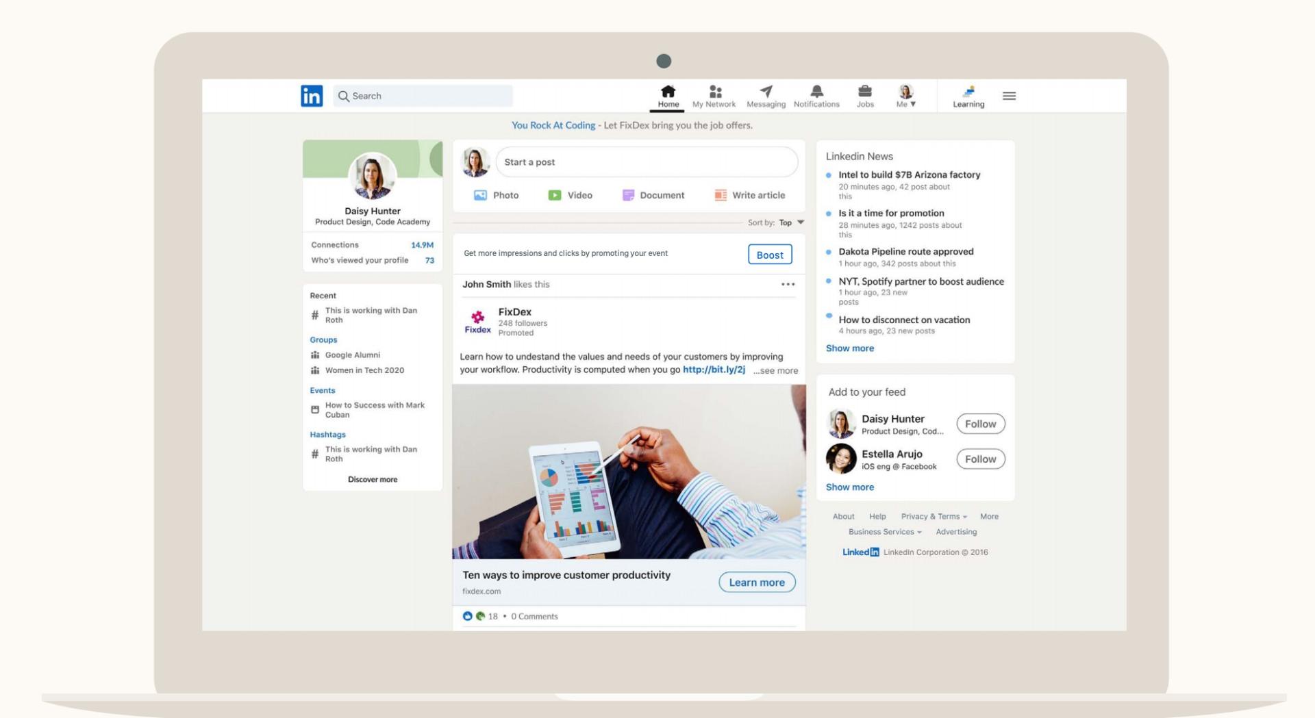 Event-Marketing mit LinkedIn | Boost Feature