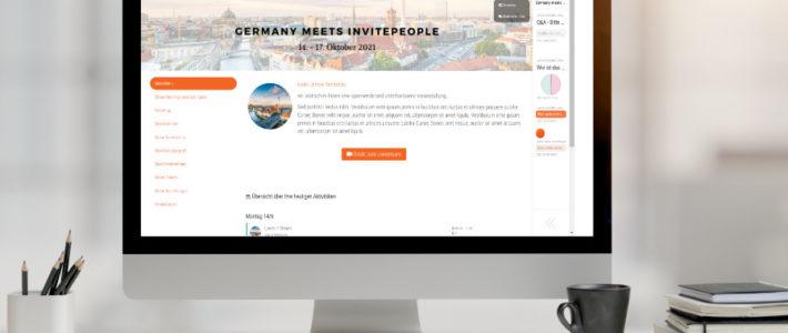 InvitePeople – virtuelle Event-Plattform inklusive Full-Service von der Eventagentur albamy