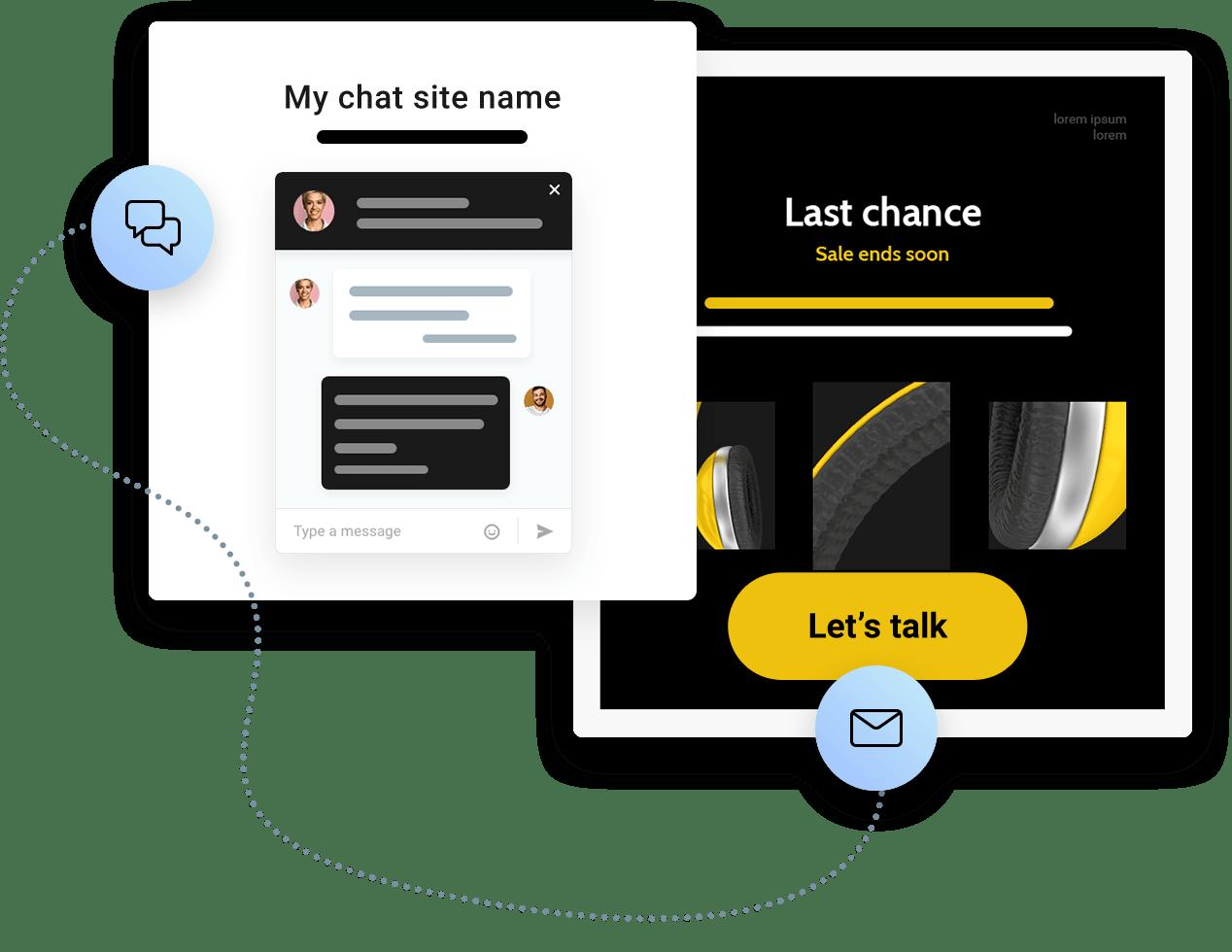 E-Mail-Marketing Kampagnen und Live-Chats