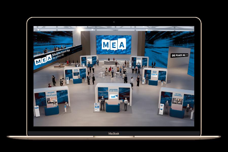MEA mobile event app für virtuelle Messe & virtuelle Events   plazz ag