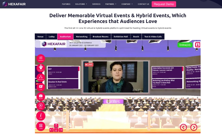 virtuelle Messe oder virtuelles Event mit HEXAFAIR