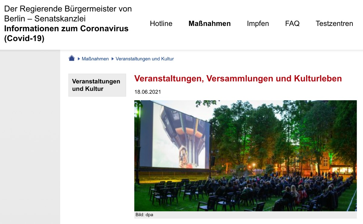 coronakonforme Events in Berlin