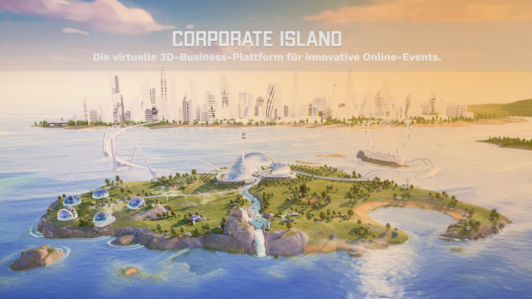 Corporate Island | 3D Event-Plattform