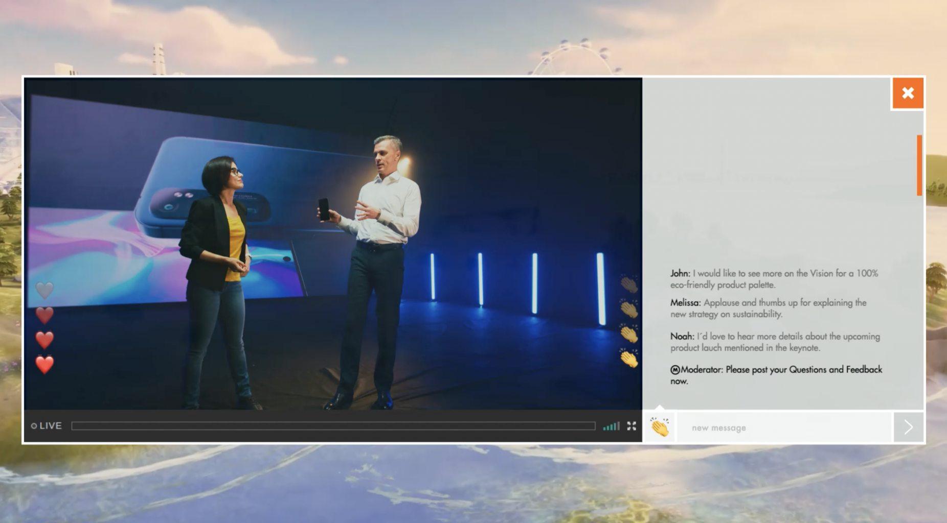 Livestreaming und virtueller Applaus