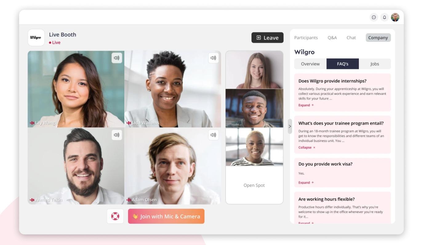 talentspace   Event-Plattform für Recruiting-Events