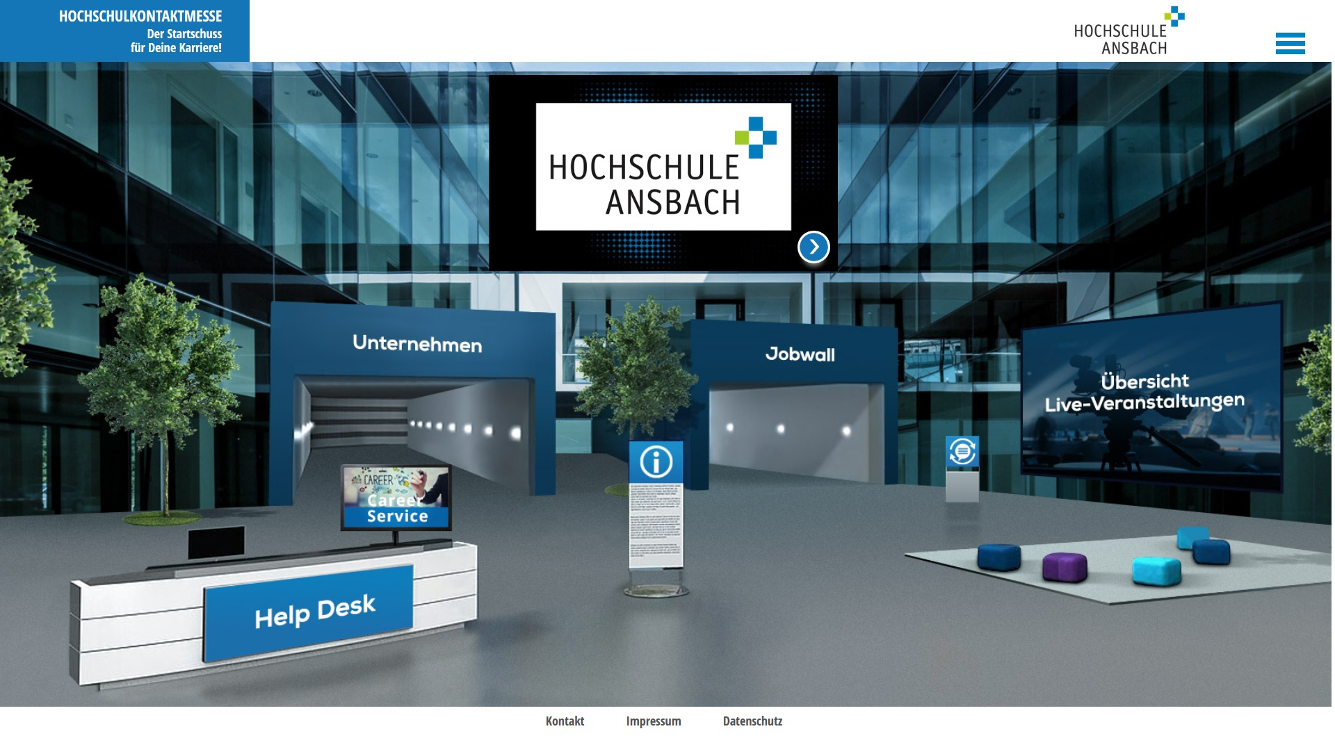virtuelle Messe der Hochschule Ansbach | VISIOVENT