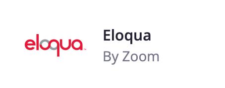 Eloqua | Zoom Apps