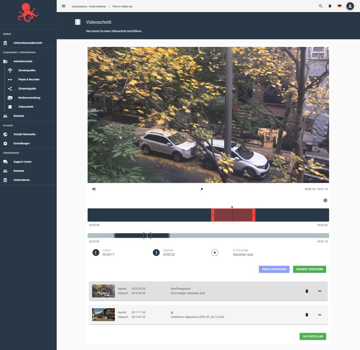 Videoschnitt live und in der Cloud mit Contentflow