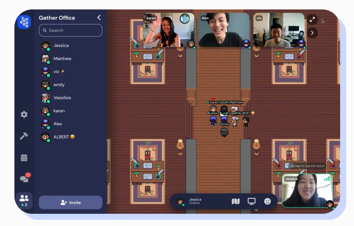 gather.town kostenloses Videokonferenz-Tool