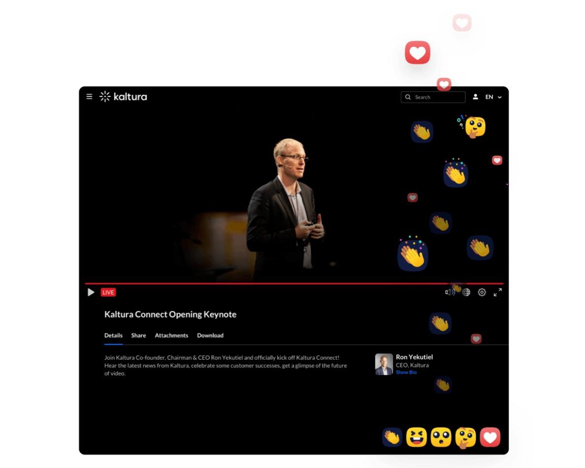 Kaltura   virtuelle Event-Plattform