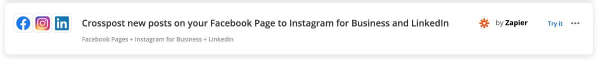 Zap: einen neuen Post auf Facebook automatisch auf Instagram und LinkedIn teilen
