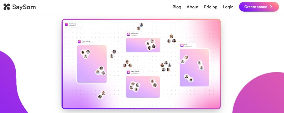 SaySom - kostenloses Videokonferenz-tool für bis zu 20 Teilnehmer