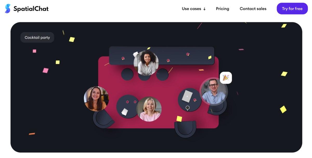 spatial.chat - hat auch einen Plan für kostenlose Videokonferenzen
