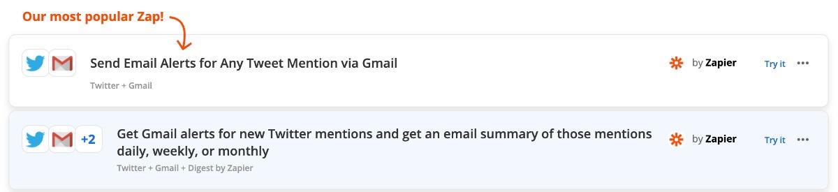 Zap: automatisch via Gmail informieren lassen