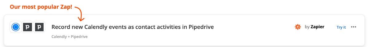 Zap: calendly pipedrive