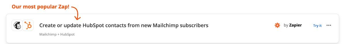 Zap: einen Hubspot Kontakt automatisch anlegen, wenn sich ein neuer Mailchimp Abonnent angemeldet hat