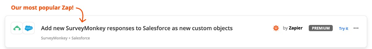 Zap: SurveyMonkey Salesforce