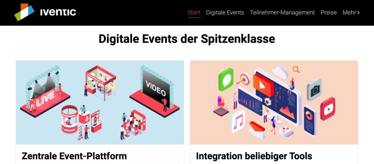 iventic   Event-Plattform und Teilnehmermanagement