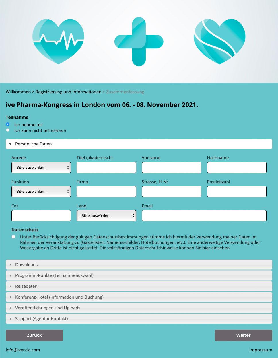 Registrierung - Corona-konformes Teilnehmer-Management mit iventic