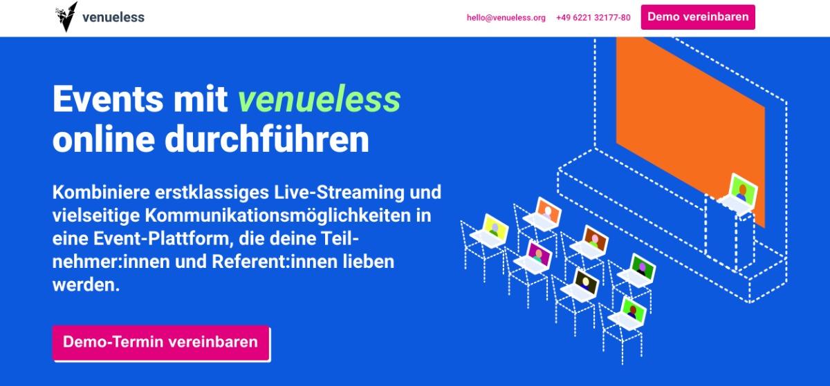 venueless   Event-Plattform für eine virtuelle Messe oder ein hybrides Event