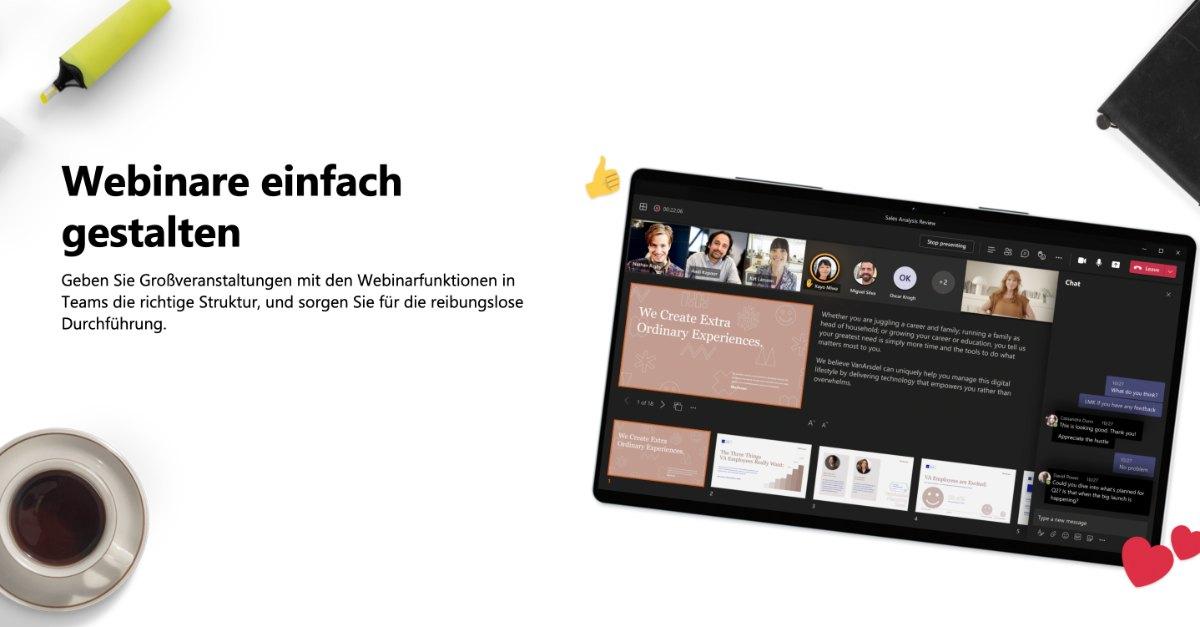 Webinare und Videokonferenzen mit Microsoft Teams