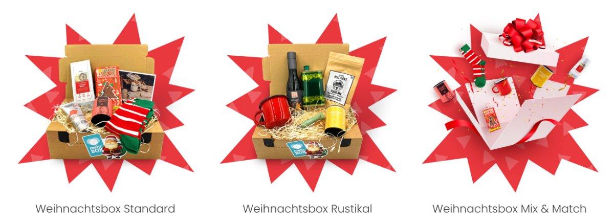 weihnachtliche Eventboxen namens mehrbox