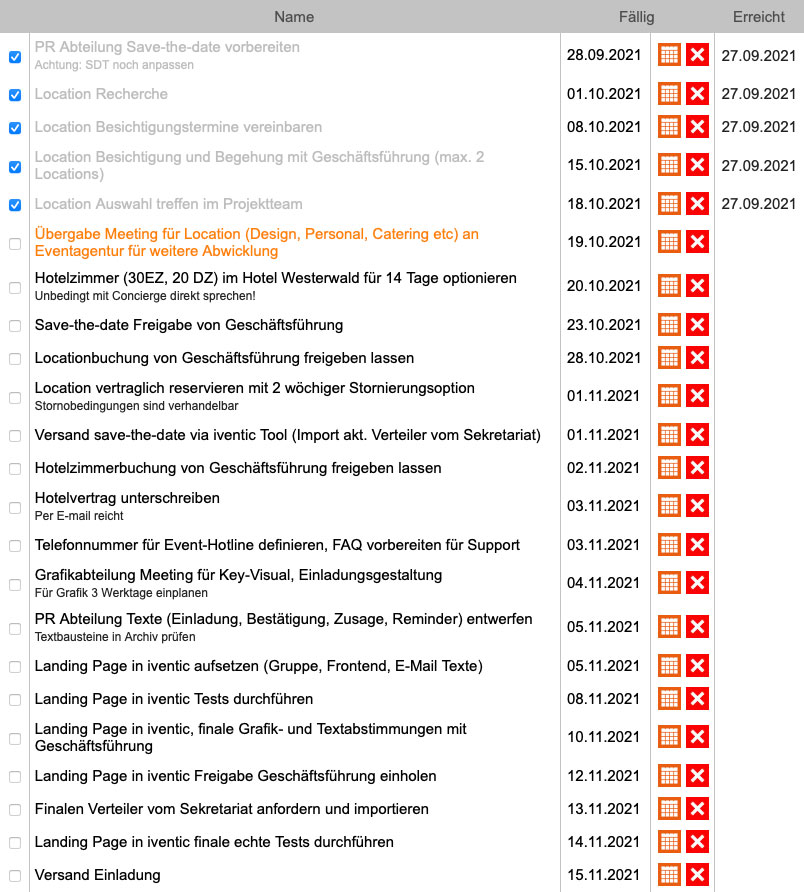 Workflow - Event-Management mit iventic