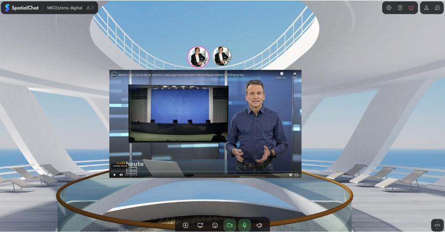 Videos in spatial, der wonder.me Alternative, integrieren